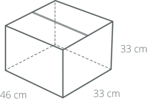 Standard box product dimensions